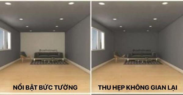 Chỉ với sơn tường, bạn có thể xử gọn nhược điểm trong thiết kế phòng