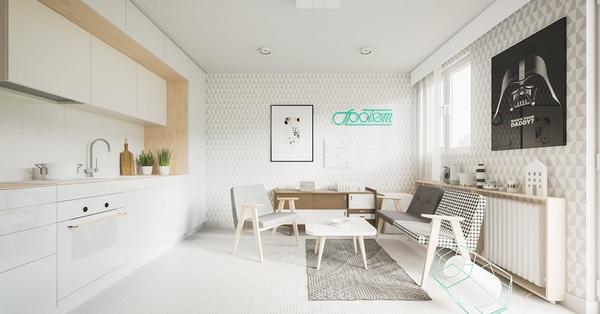 Hai căn hộ với diện tích khiêm tốn dưới 30m² nhưng thiết kế lại vô cùng cuốn hút