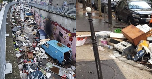 Những hình ảnh gây sốc cho thấy thành phố Paris hoa lệ