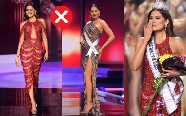 Tân Hoa hậu Hoàn vũ Andrea Meza mặc cái gì thế này?