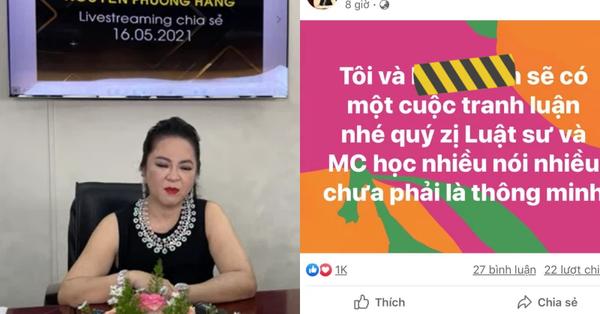 """Không còn """"đấu"""" trong nước, bà Phương Hằng nay trịnh trọng nhắc đích danh MC nổi tiếng tại hải ngoại một cách gay gắt:"""