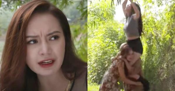 Cảnh quay bị chê phản cảm của diễn viên Anh Thư trong phim