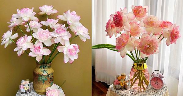 Bật mí bí quyết cắm sen đẹp vạn người mê, chị em yêu hoa đều phải gật gù vì quá đúng!