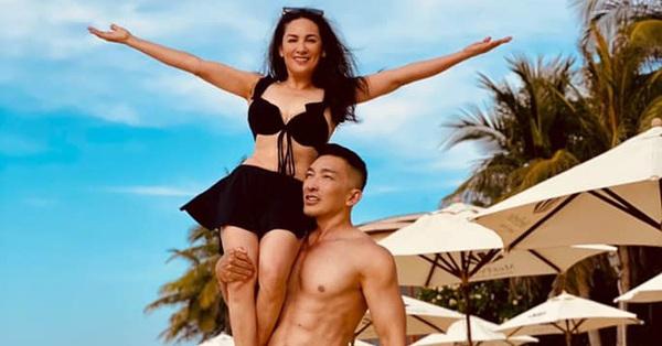 Phi Nhung diện bikini khoe body nhưng không