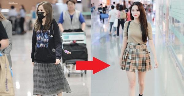"""Không phải chân váy dài, đây mới là kiểu chân váy Jisoo mặc suốt vì giúp """"ăn gian"""" cả chục phân chiều cao"""