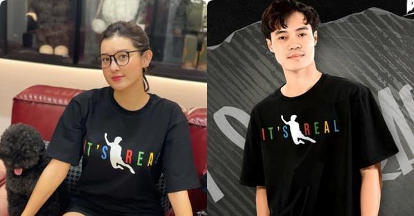Bông hậu đầu tiên của Vbiz sở hữu chiếc áo phông