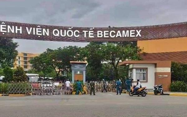 Bình Dương: Bệnh viện quốc tế Becamex bất ngờ bị phong tỏa vì phát hiện ca dương tính SARS-CoV-2 đến khám bệnh
