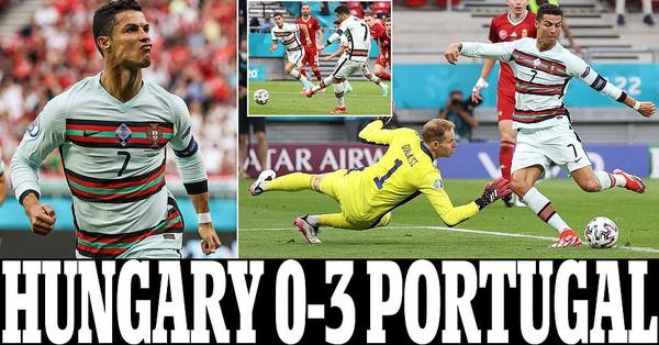 Lập cú đúp giúp Bồ Đào Nha đè bẹp Hungary, Ronaldo tạo