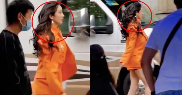 Dương Mịch lộ cảnh sải chân siêu dài, mặc đồ sang chảnh, netizen sốc vì visual chẳng khác siêu mẫu hạng A - mega 645