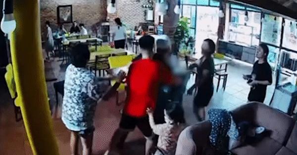 Thêm clip chồng cũ Hoàng Yến cầm dao truy đuổi nữ diễn viên sau cú đấm thẳng mặt
