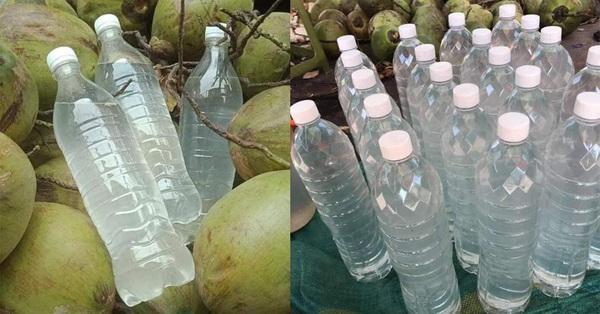 Nước dừa chỉ từ 35k/lít bán đầy chợ mạng, nổ đơn