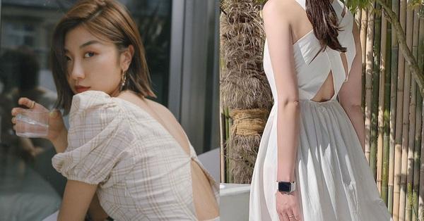 Mẫu váy diện lên tưởng kín đáo nhưng khi quay lưng lại sexy, sang chảnh khiến người ta trầm trồ