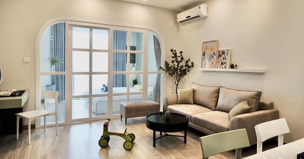 Căn hộ 53m² với gam màu xanh bơ đẹp đến từng centimet có chi phí hoàn thiện 230 triệu đồng ở Hà Nội
