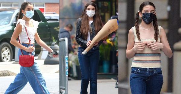 Con gái của Tom Cruise cực sành điệu và thần thái, dù toàn diện quần jeans đơn giản