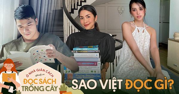 Sao Việt đọc gì mùa giãn cách: Nhìn chồng sách của Hà Tăng mà hoa mắt, Helly Tống hay HH Tiểu Vy đều