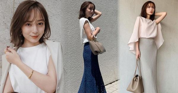 Blogger Nhật 42 tuổi cao 1m52: Chỉ mê chân váy dài, có một kiểu hack chân đỉnh nhất đến váy midi cũng