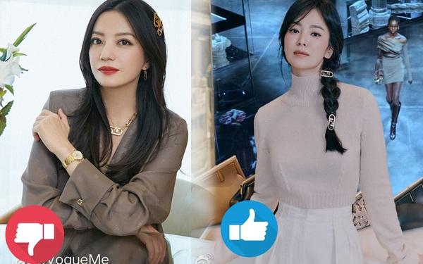 Song Hye Kyo thăng hạng nhan sắc nhờ kiểu tóc, cách dùng phụ kiện