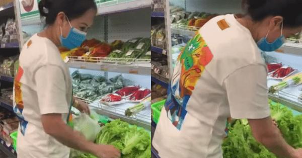 Cô gái đi mua rau có một hành động khiến dân mạng cho là
