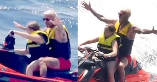 David Beckham gây tranh cãi khi để Harper lái mô tô nước, dù cô bé mới lên 10