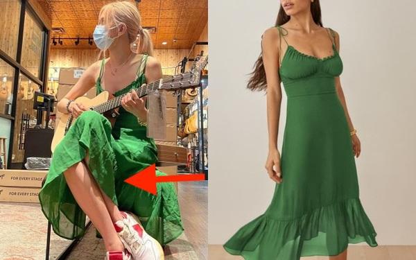 Rosé diện váy rõ đẹp nhưng lại mắc lỗi khiến cho bộ đồ nhìn như hàng chợ
