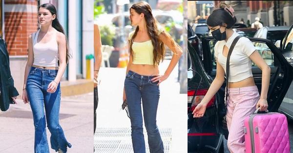 Suri Cruise toàn mặc quần cạp trễ lỗi mốt nhưng nhờ chân dài, dáng chuẩn mà vẫn đẹp xuất sắc