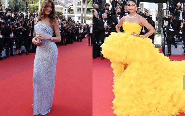 Cannes vắng Phạm Băng Băng, cựu đệ nhất phu nhân Pháp đẹp đỉnh cao nhưng vẫn không nổi bằng cô nàng váy vàng chóe này