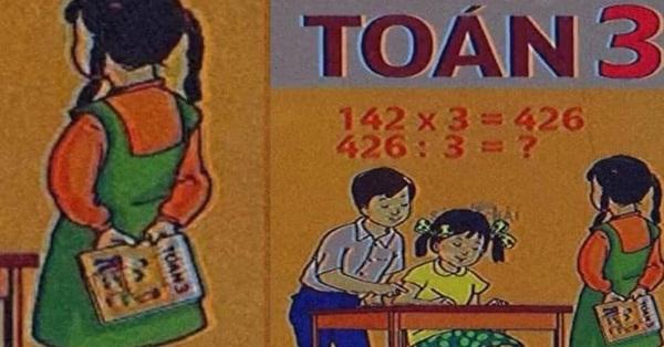 Ảnh bìa SGK Toán lớp 3 bỗng hot rần rần khiến hội