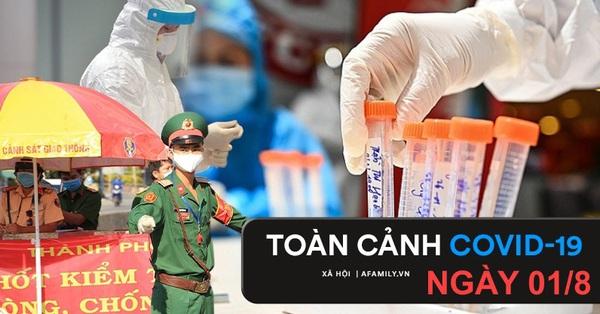 TOÀN CẢNH COVID ngày 1/8: 4.423 người khỏi bệnh, TP.HCM lập kỷ lục hơn 100.000 liều vắc xin được tiêm trong 1 ngày