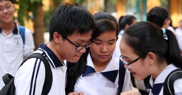 TPHCM: Trường phổ thông Năng khiếu công bố điểm thi lớp 10