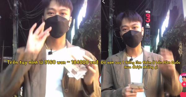 Anh chàng người Việt bỏ tiền công 1 tiếng đi làm để xem mình mua được những gì tại Hàn Quốc và kết quả cũng rất