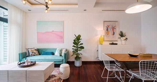 Căn hộ 115m² đẹp ngọt ngào với sắc màu lãng mạn mùa thu ở Royal City Hà Nội