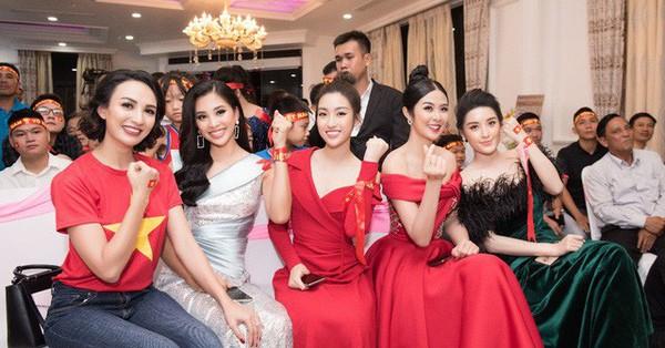 Hoa hậu Ngọc Hân, Mỹ Linh đồng loạt diện váy khoe trọn vai trần, nhưng nhìn sang Huyền My ai cũng choáng hơn cả!
