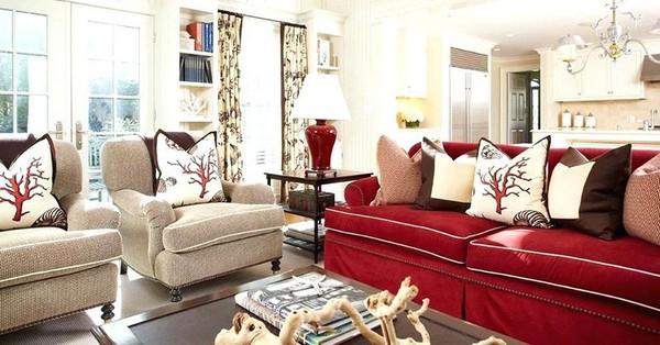 Đừng bỏ lỡ chiếc ghế sofa đỏ cho phòng khách khi mùa lễ hội đã cận kề