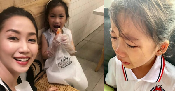 Con gái khóc không muốn đi học, mẹ Ốc Thanh Vân lại cho phép ''lười biếng tí chả sao'' và cái kết bất ngờ