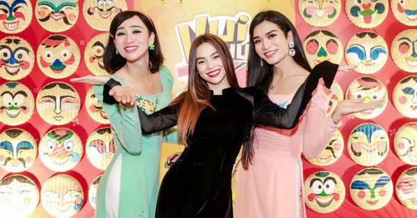 Hồ Ngọc Hà diện áo dài đọ dáng cùng ''chị em song sinh'' BB Trần và Hải Triều
