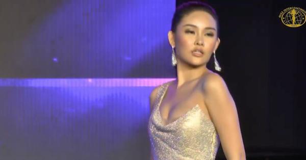 Đi loạng choạng, biểu cảm khó hiểu, Ngân Anh tiếp tục ''trắng tay'' tại Miss Intercontinental 2018
