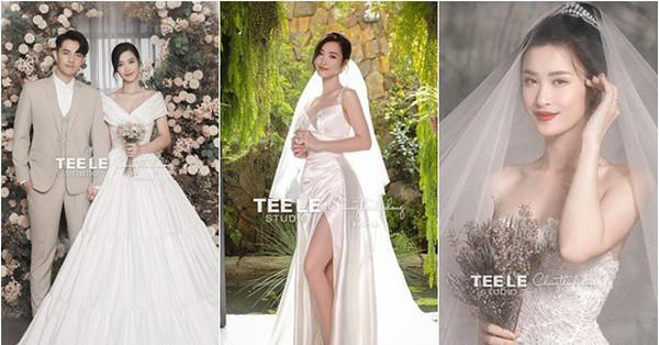 Yêu tận 10 năm mới cưới, Đông Nhi chơi lớn với 10 bộ váy, trong đó có thiết kế xẻ ngực, xẻ đùi cao tít tắp gợi cảm tột cùng