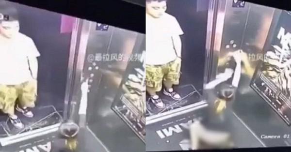 Vừa đi vào thang máy, cô gái lập tức ngồi bệt xuống phóng uế khiến người ngoài vô tình nhìn thấy chết trân tại chỗ
