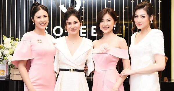 Ngọc Hân, Tú Anh mừng Sohee khai trương showroom Nam Định
