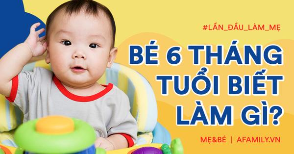 Cho đồ vào miệng gặm cũng là một mốc phát triển quan trọng của em bé 6 tháng tuổi, nếu trẻ chưa biết, bố mẹ cần lưu tâm