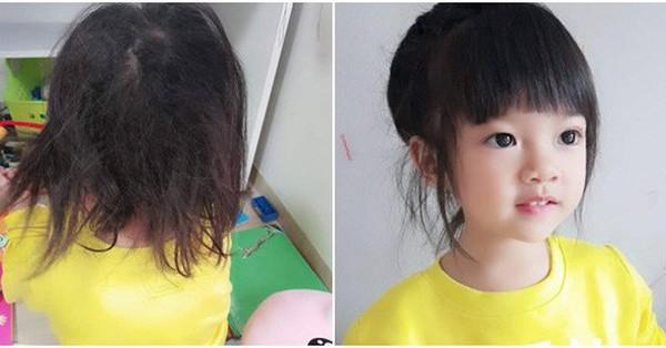 Mẹ than trời vì mỗi sáng mất 20 phút gỡ tóc cho con, dân mạng lại đòi làm thông gia sau khi thấy mặt cô bé