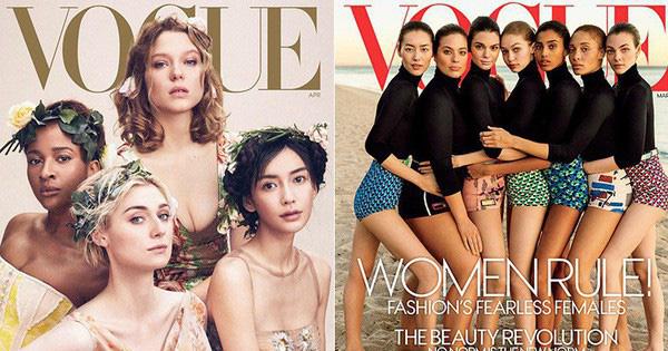"""Khác với Angela Baby, Liu Wen chính là sao Hoa ngữ lên Vogue Mỹ cùng loạt mỹ nhân đình đám mà không hề bị """"dìm"""""""