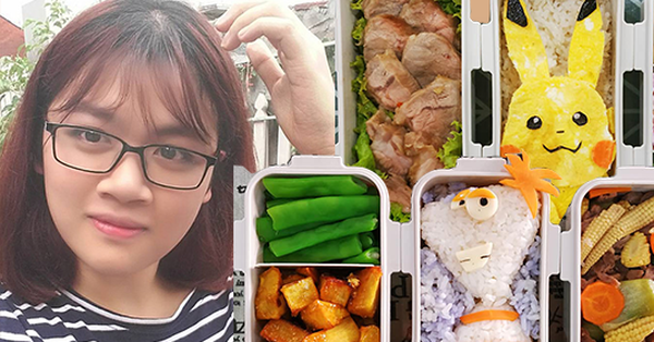 9x Hà Nội ngày nào cũng làm những hộp cơm siêu cute cho chồng mang đi làm khiến MXH ''phát sốt''