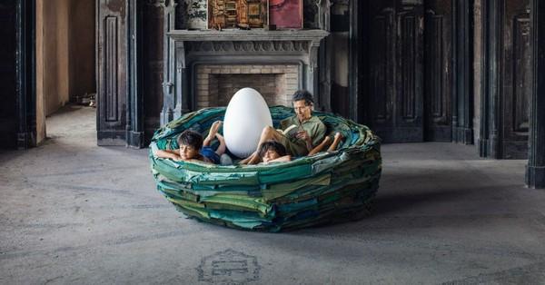 Một thiết kế nhiều công dụng, chiếc ghế tròn đặc biệt này giúp bạn thêm lý do chính đáng để nằm ườn ở nhà rồi