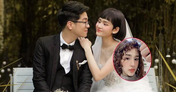 ''Cô dâu'' Hiền Hồ vừa đổi kiểu tóc nữ tính, cư dân mạng đồng loạt gọi tên ''chú rể'' Bùi Anh Tuấn