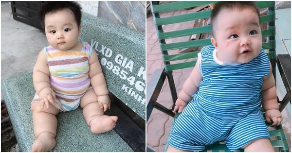 Bú sữa mẹ hoàn toàn, bé trai 8 tháng nặng 15kg, người núng nính đầy ngấn ai nhìn cũng thích