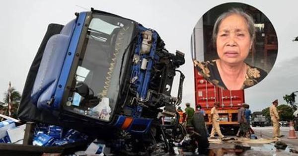 Cụ bà 69 tuổi thoát nạn trong vụ xe tải lật hoảng loạn nói: ''Sợ lắm, may mà tôi lùi lại chứ không bị đè chết rồi''