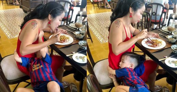 Đưa 3 con đi du lịch, Ốc Thanh Vân khiến hội bỉm sữa cảm thông sâu sắc vì ''ăn cũng không yên''
