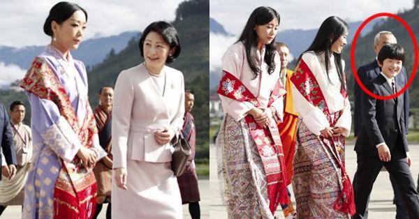 Gia đình Thái tử Nhật Bản đặt chân đến