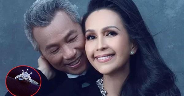 Kỷ niệm 25 năm ngày cưới, ''nữ hoàng ảnh lịch'' Diễm My được chồng tặng nhẫn kim cương 5 tỷ đồng